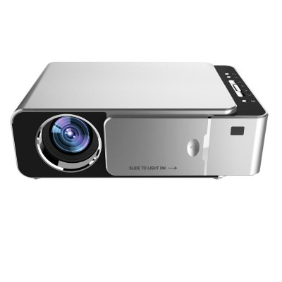 T6 HD Portable LED Projector 1280*720 Logistics Resolution 720P HD Video Projector AV/USB/HDMI/Audio/VGA Beamer For Home Cinema