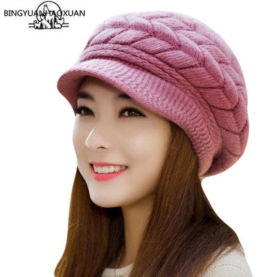 Cap for Girls Women Boys Mens Woollen Knitted Hat Winter-Autumn Beanie Universal Size Caps