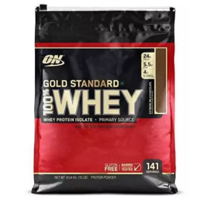 Optimum Nutrition (ON) Gold Standard 100% Whey Protein Powder - 10 lbs, 4.54 kg