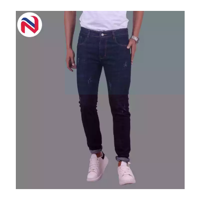 Dark Blue High Rise Stretchable Jeans For Women By Nyptra