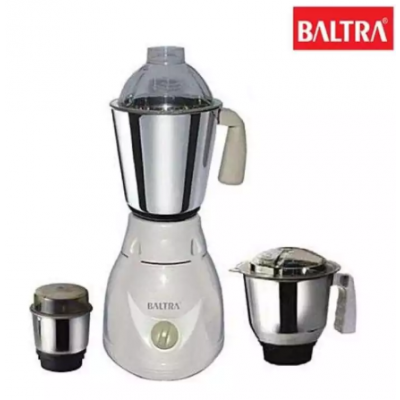 Baltra BMG-118 SPEEDO 3 Jars 500W Mixer Grinder - (White)