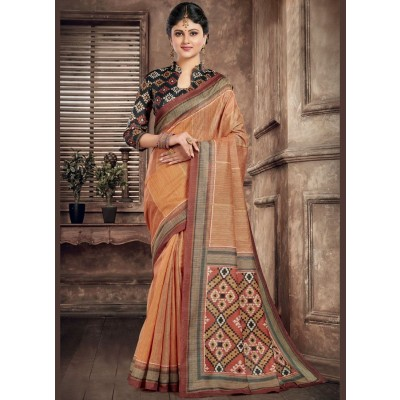 Multi Color Abstract Printed Saree For Women