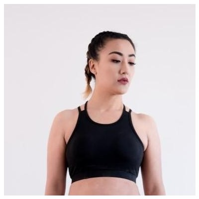 Yala Wears Black Sports Bra