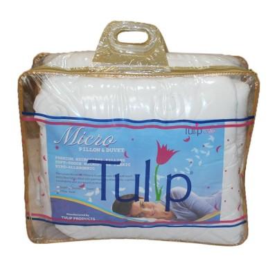 """Tulip White Micro Fiber Quilt - 72"""" x 90"""""""