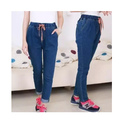 Dark Blue High Waist Boyfriend Jeans Pant For Women