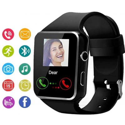 HD Bluetooth Smart Watch With Sim/Memory/Camera - (X6 HD)