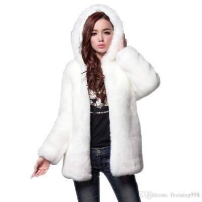 Rabbit Fur Hoodie For Women