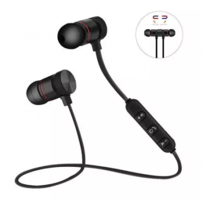 M5 Wireless Bluetooth Earphones Sport Running Metal Magnetic With Mic