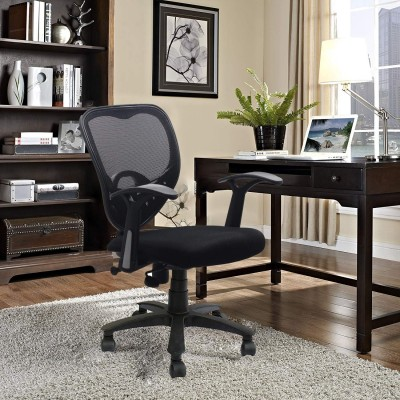 SAVYA HOME Apex Chairs Delta MB Umbrella Base Office Chair (Black)