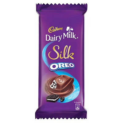 Cadbury Dairy Milk Silk Oreo Chocolate Bar, 130g (Pack of 3)