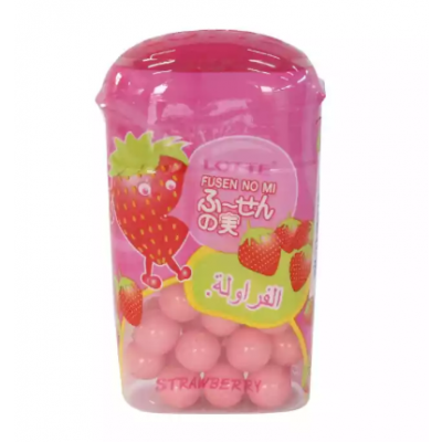 Lotte Strawberry Flavoured Chewing Gum - 15 g