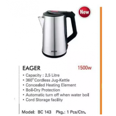 Baltra Electric Kettle EAGER 2.5 Ltr