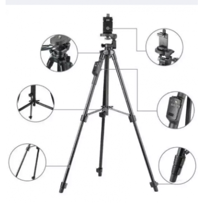 Yunteng VCT-5208 Tripod Stand With Remote-Black