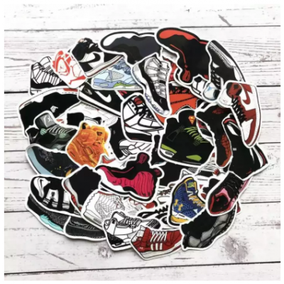 40 Pcs AJ Shoes Stickers Jordan SNEAKER Stickers Graffiti Waterproof Stickers