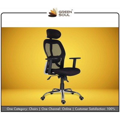 Green Soul New York High Back Mesh Office Chair (Black)