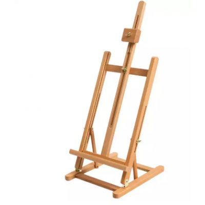 Easel Wooden Table Top H-Shape Painting Stand