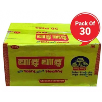 Wai Wai Chicken Flavored Noodles Box Pack, 30 pcs