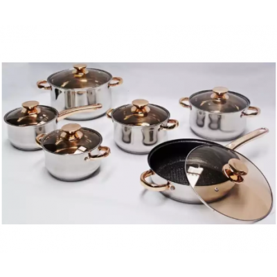 Kaisa Villa Cookware Set (6 Piece Stainless Steel Induction)