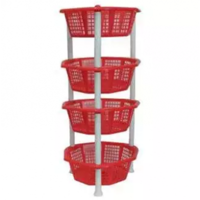 Delux Plastic Racks - 4 Layer Shelf Storage