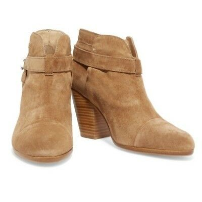 Camel Suede Ankle Boots For Women