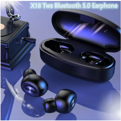 X18 Mini Wireless TWS Bluetooth 5.0 Waterproof, Dustproof Max Battery Backup Earphone