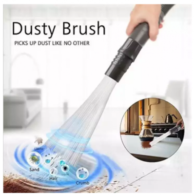 Universal Vacuum Attachment Dust Brush Small Suction Brush Tubes Cleaner Remover Tool Cleaning Brush for Air Vents Keyboards