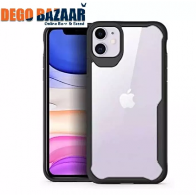 Original ipaky Apple iPhone 11 Auto Focus PC + TPU Ultra-Thin Hybrid Hard Protect Case Shock Absorption Back Transparent Clear Bumper Cover for Apple iPhone 11