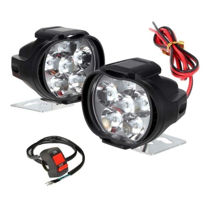 Typhon 9 LED Bar Light Universal Bike Car Fog Light, Work Lamp for Off Roading – FREE ON/OFF SWITCH - Set of 2 (15 W)