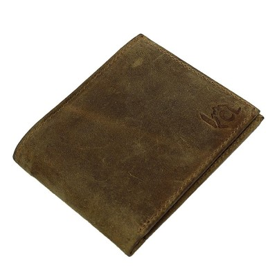 KCL Light Brown Sheep Leather Bi-Fold Wallet For Men