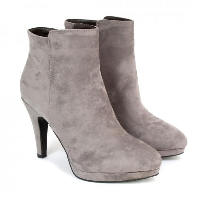 Grey High Heel Boots For Women