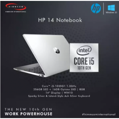 Hp I5 10th Gen 8GB/256GB SSD/W10 Laptop