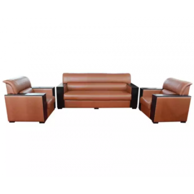Sunrise Furniture 5-Seater Wooden Office Sofa Set - Light Coffee