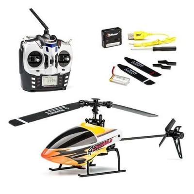 Yellow Remote Control Chargable Helicopter For Kids - BL-0076