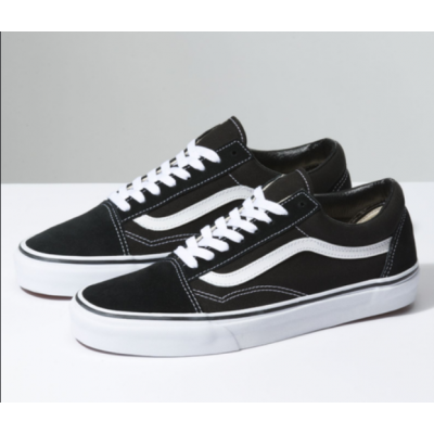 Vans Black/White VN000D3HY28 Old Skool Lace Up Shoes (Unisex)