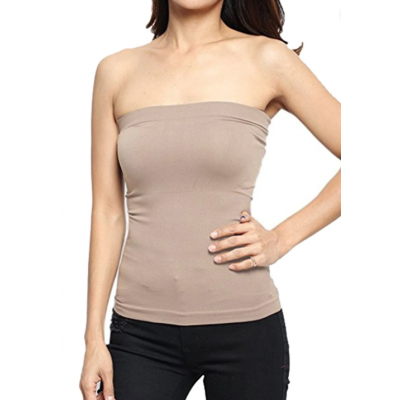 Nude Tube Strapless Camisole For Women