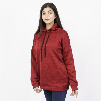 J.Fisher Textured Fleece Oversize Pullover Hoodie for Women