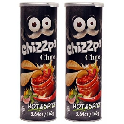 Chizzpa Hot & Spicy Potato Chips - 160 gm