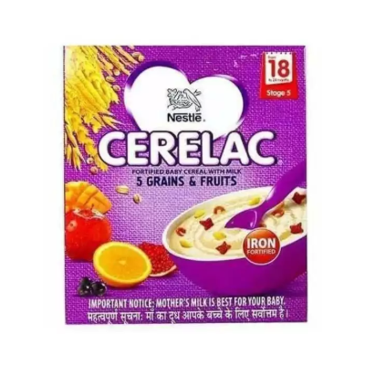 Nestle Cerelac Fortified Baby Cereal with Milk - 5 Grains & Fruits - Stage 5 (From 18 to 24 Months) - 300 gm