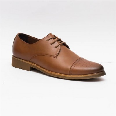 Caliber Shoes Coffee Wing Tip Lace Up Formal Shoes For Men - ( T 505 C)