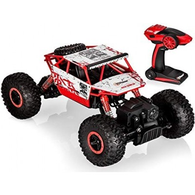 Deep Remote Controlled Rock Crawler, RC Monster Truck 4WD, Off Road Vehicle  (Red, Black)
