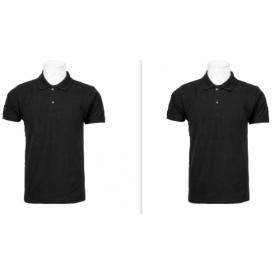 Polo neck T-shirt In Black