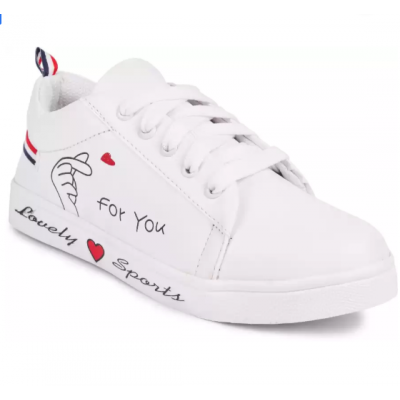 Perfect Stylish Girls Casual Shoes Sneakers For Women  (White)