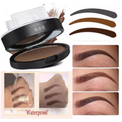 Eyebrow Makeup Powder and Stamp Palette - Eyebrow Powder Makeup-Brow Stamp Palette (03 Light Brown Color)