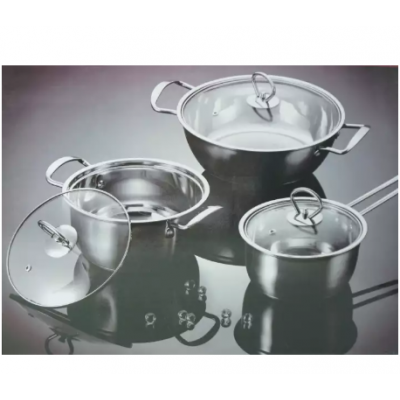 Hestia 3 Pieces Stainless Steel Cookware Set