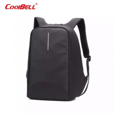 CoolBELL 15.6 Inch Laptop Backpack With USB Port Charging/Light-weight City Anti-theft Bag/Functional Knapsack Backpack/Water-resistant Rucksack For Men/Women (Black)