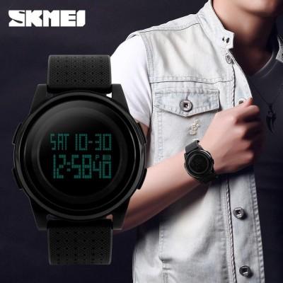 SKMEI 1206 Ultra Slim Sporty Digital Watch for Men - Black
