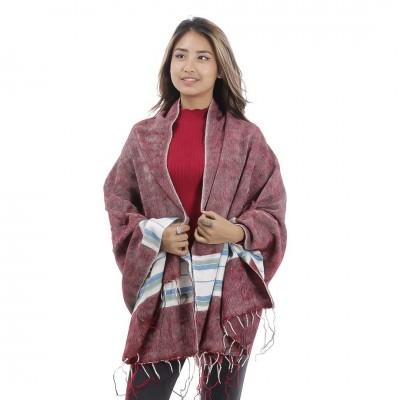 Multicolor Yak Wool shawl For Women