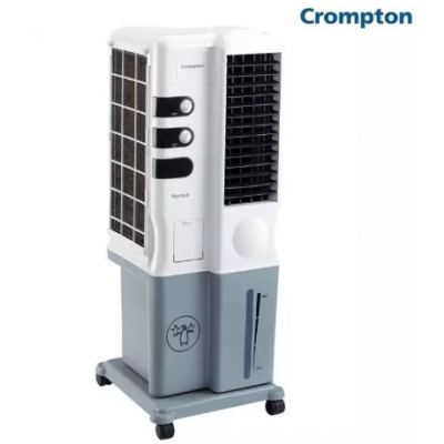 Crompton Mystique 20 Ltrs Tower Air Cooler (White-Grey)
