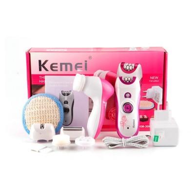 Kemei 6 in 1 Elecric Epilator for Women Hair Removal Machine Multifunctional Lady Shaving Tools