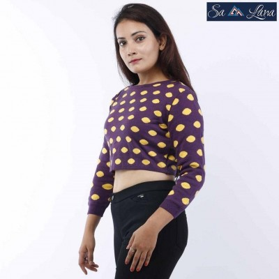 Polka Dot Crop Sweater